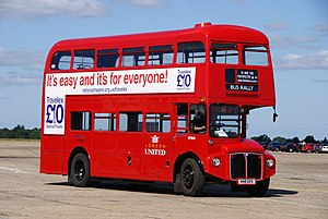 Dave's Buses London United Routemaster bus RM848 (448 UXS), 2010 North Weald bus rally uncropped.jpg