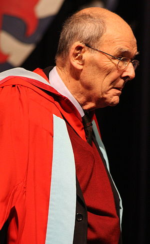 Academic dress of the University of Nottingham - The Australian philosopher David Malet Armstrong receiving an honorary degree in 2007
