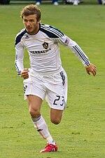 David Beckham in azione con i L.A. Galaxy
