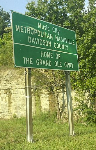 "Grand Ole Opry - Signs welcoming motorists to Nashville on all major roadways include the phrase ""Home Of The Grand Ole Opry""."