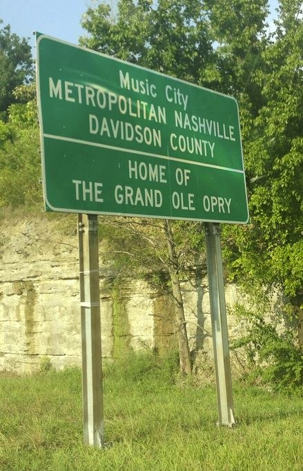 Davidson Co Tennessee Road Sign