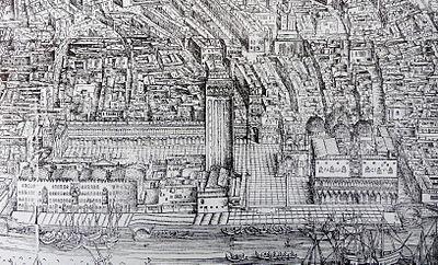 San Marco von der Südseite, Iacopo de Barbari, 1500, Ausschnitt