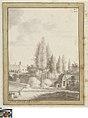 De achterzijde van de Bogardenschool, circa 1786, Groeningemuseum, 0041302000.jpg