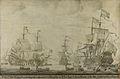 De krijgsraad aan boord van de 'De Zeven Provinciën', het admiraalsschip van Michiel Adriaensz de Ruyter, 10 juni 1666, voorafgaande aan de vierdaagse zeeslag, episode uit de Tweede Engelse Rijksmuseum SK-A-4289.jpeg