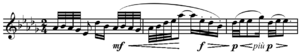 Pentatonic scale - Image: Debussy Voiles, Preludes, Book I, no. 2, mm.43 45