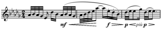 Voiles - Image: Debussy Voiles, Preludes, Book I, no. 2, mm.43 45