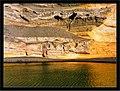 December Laguna Charco de los Clicos Gold Lava Colors El Golfo - Master Lanzarote Photography 1988 great sunken vulcanic crater , Mineral Olivin - panoramio.jpg
