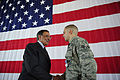 Defense.gov News Photo 110729-F-RG147-456 - Secretary of Defense Leon E. Panetta shakes hands with Senior Airman Brian Colasacco after presenting him an Air Force Achievement Medal during a.jpg