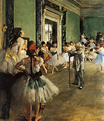 "An artifact of ""high culture"": a painting by Edgar Degas."