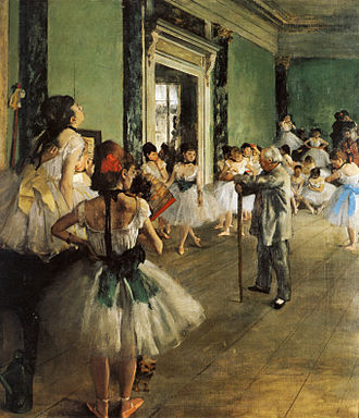 Ballet - Classical bell tutus in The Dance Class by Degas, 1874