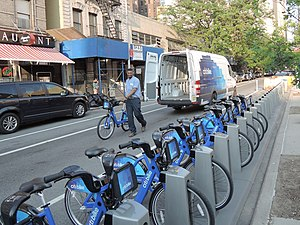 Citi Bike - Image: Delivering Citi Bike 360 W54 St jeh