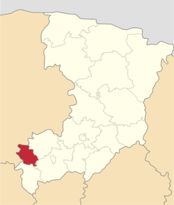 Location of Demidivkas rajons