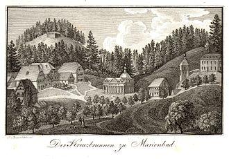 Mariánské Lázně - Mariánské Lázně, 1815, copper engraving
