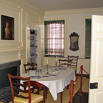 Germantown White House - Restored second floor dining room