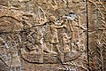 Detail, Assyrian military campaign in the marches of southern Iraq. 640-620 BCE. British Museum, London.jpg
