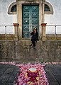 Deya with Flowers at Porto Cathedral (28986990908).jpg
