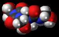 Diazolidinyl urea 3D spacefill.png