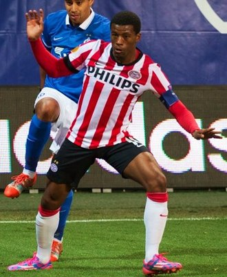 Georginio Wijnaldum - Wijnaldum with PSV in 2014.