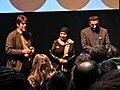 Director Greg Barker with Maryam and Osama (12026127733).jpg