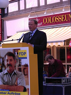 Dirk Niebel - Dirk Niebel speaking in Göttingen