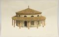 Disegno raff. ricostruzione caseificio Meli Lupi - Musei del cibo - Parmigiano - 164.tif
