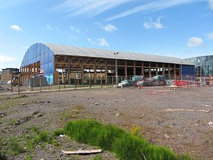 Cardiff Arena - Cardiff Arena being dismantled in June 2016