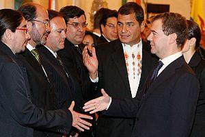 Dmitry Medvedev with Rafael Correa-5