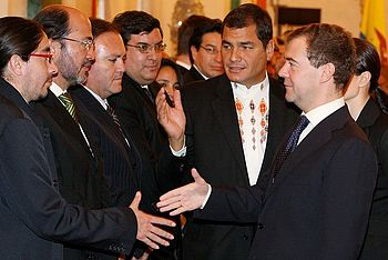 Dmitry Medvedev with Rafael Correa-5