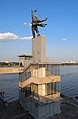 Dnipro Metro Station - statue.jpg