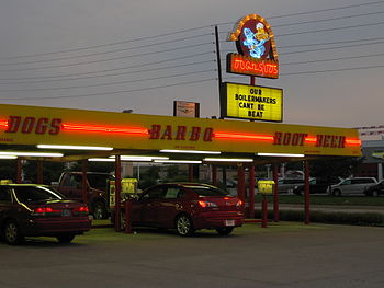 Dog n Suds drive-in diner.