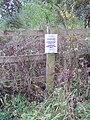 Dog disturbance sign at pond near Heath Lane, Willaston.JPG