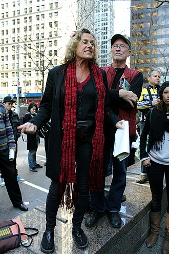 Bernardine Dohrn - Bernardine Dohrn and Bill Ayers in Occupy Wall Street,  Zuccotti Park, 2012