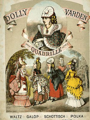 Dolly Varden (costume) -  Music sheet cover depicting women wearing Dolly Varden costumes.