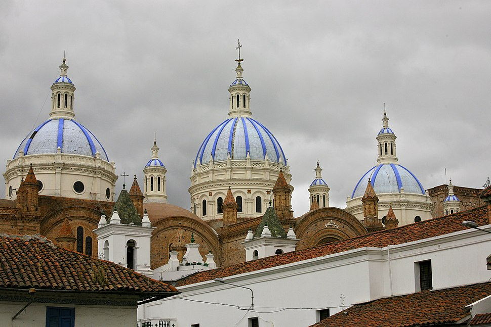 Domes of the New Cathedral in Cuenca, Ecuador