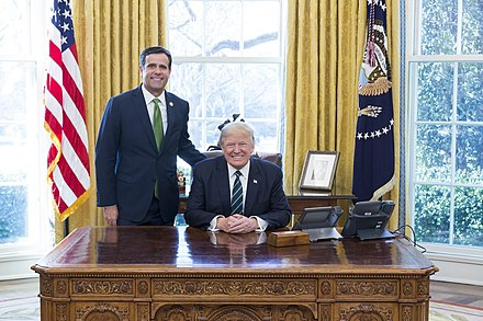 Ratcliffe with President Donald Trump in 2017 Donald Trump and John Ratcliffe.jpg