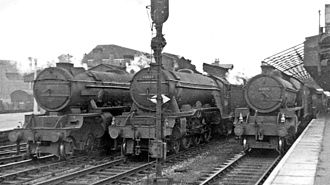Doncaster railway station - At the station in 1953