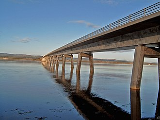 Dornoch Firth Bridge - Dornoch Firth Bridge in November 2006
