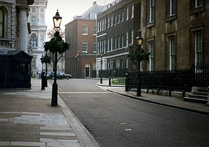 Downing Street mortar attack - Downing Street in 1996