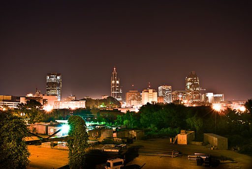 Downtown Raleigh Skyline viewed from Boylan Ave