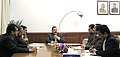 "Dr. Jitendra Singh chairing a joint meeting of the officials of the Ministry of DoNER and the Ministry of Tourism to discuss the ""Make in Northeast"" initiative.jpg"