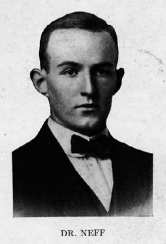 John Neff (American football) - Neff pictured in Garnet and Black 1912, South Carolina yearbook