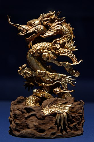 Vietnamese dragon - Dragon emerging from the clouds, Nguyễn dynasty (1842)