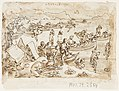 Drawing, Sketchbook page- Pearl Fishing; recto, Diana, ca. 1590 (CH 18117949-2).jpg