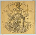"""Drawing, Study for Mosaic """"Justice,"""" Wisconsin State Capitol, Madison, WI, 1912 (CH 18427969).jpg"""
