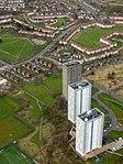 Drumchapel towerblocks from the air (geograph 5186864).jpg