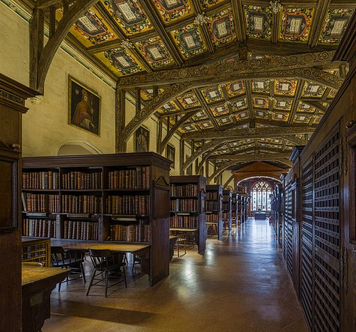 Duke Humfrey's Library Interior 1, Bodleian Library, Oxford, UK - Diliff