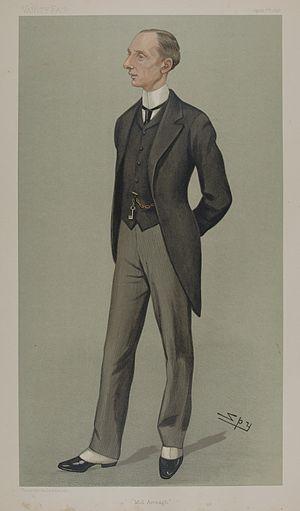 "Dunbar Barton - ""Mid Armagh"" Barton as caricatured by Spy (Leslie Ward) in Vanity Fair, April 1898"