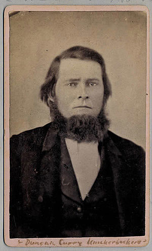 Duncan Curry - Early photograph of Curry