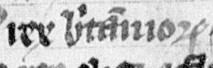 Owain ap Dyfnwal (fl. 934) - Image: Dyfnwal, King of the Britons (Lat. 4126, folio 29r)