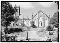EAST ELEVATION WITH CEMETERY IN FOREGROUND - Anglican Church, 27 King Street, Christiansted, St. Croix, VI HABS VI,1-CHRIS,40-6.tif
